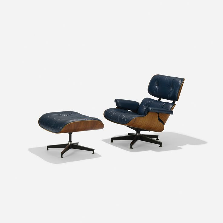 Lot 103: Charles and Ray Eames. special-order 670 lounge chair and 671 ottoman…
