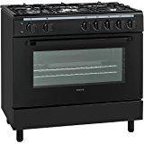 Servis SG900K 90cm Gas Range Cooker in Black | Large Single Oven, 5 Burner Hob & Gas Grill