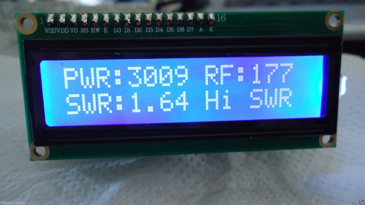 Details about DIGITAL LCD 2x16 BLUE INDICATOR with SWR ...