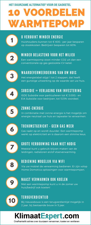 10 voordelen van een #warmtepomp