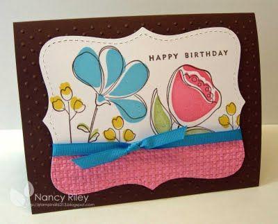 by Nancy Riley, iSTAMP: Cards Ideas, Birthday Cards, July Westamp, Cardmaking, Swap Card, Card Ideas, Westamp Swap, Flower, Cards Su