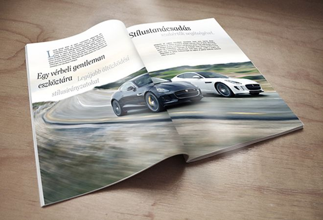 Magazin grafikai tervezés, tördelés