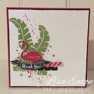 by Lisa Eaton | INKspired Artists Blog Hop 37 | #INK037 | Stampin' Up! Demonstrator Australia | Pop of Pink | Pop of Paradise | Gorgeous Grunge | Thank You Card | www.lisaeaton.com.au
