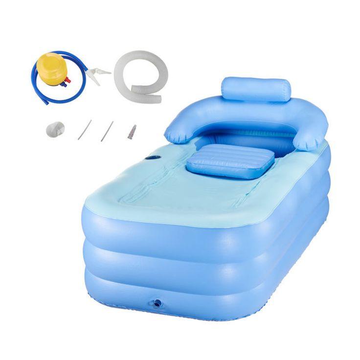 Blow Up Adult PVC Portable Spa Warm Bathtub Inflatable Bath Tub Air Pump Kit