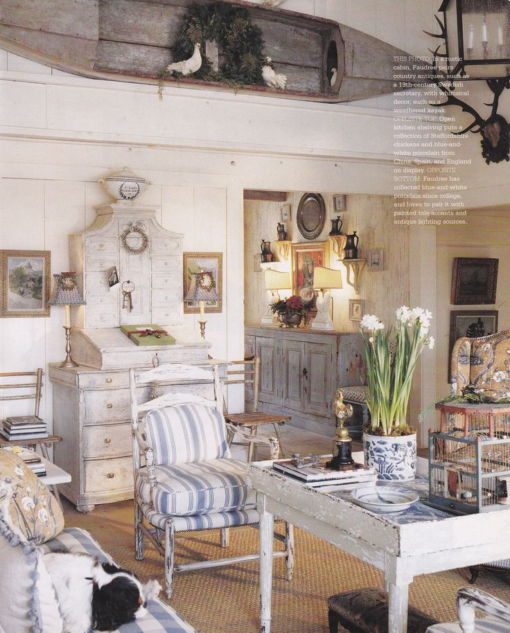 Charles Faudree  published Country French Decorating by Better Homes    Gardens Spring Summer I like the fabric on the chairs and the color scheme. 129 best Cottage Furniture   Cottage Style images on Pinterest