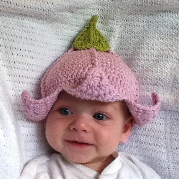 so cute!    PDF Pattern crochet Flower Fairy Hat / Photo by UniqueEarthling