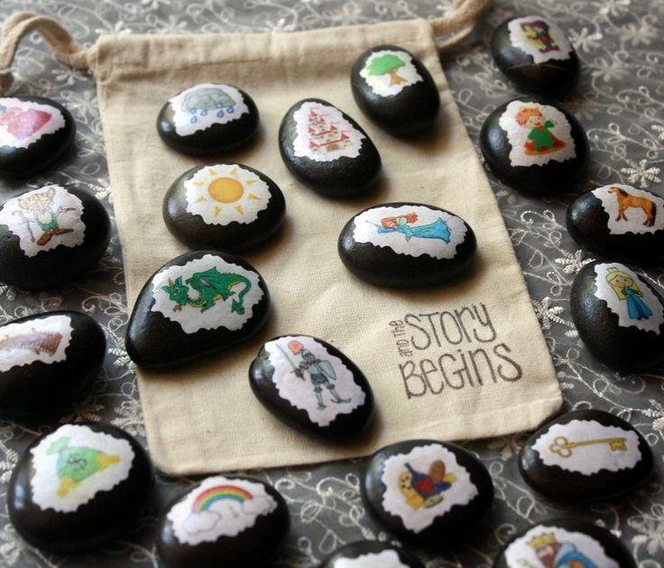 Story Stones - Unique Gift - Toy - Keepsake - Montesorri - Educational Toy - All Ages. $29.99, via Etsy.