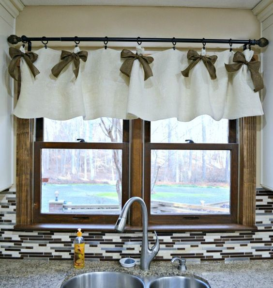 Affordable DIY Kitchen Window Valances