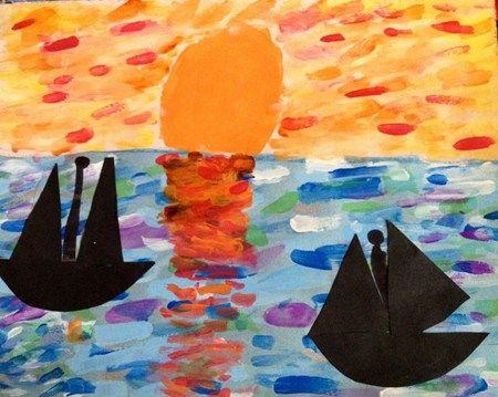 à la manière de ...Monet's Seascape