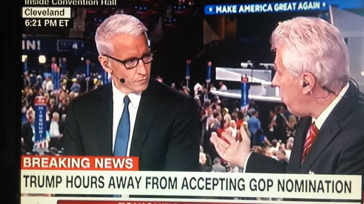 "This afternoon, during CNN's convention-hall skybox navel-lint-gazing walking up to Donald Trump's RNC Victory Lap speech tonight, Trump himself began to speak sternly to anchor Anderson Cooper, through his CNN surrogate/medium Jeffrey Lord: ""Anderson, I've just heard from Donald Trump himself,"" Lord"