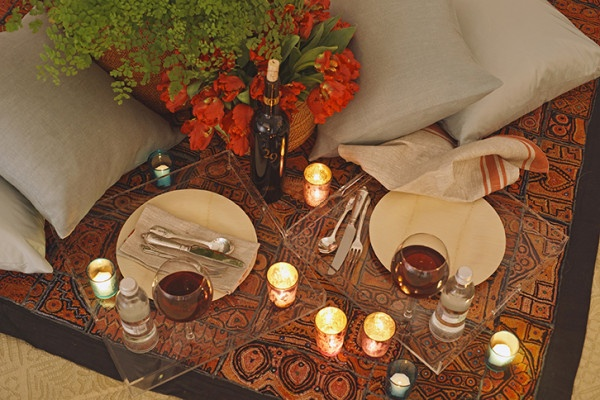 valentine's day indoor picnic ideas