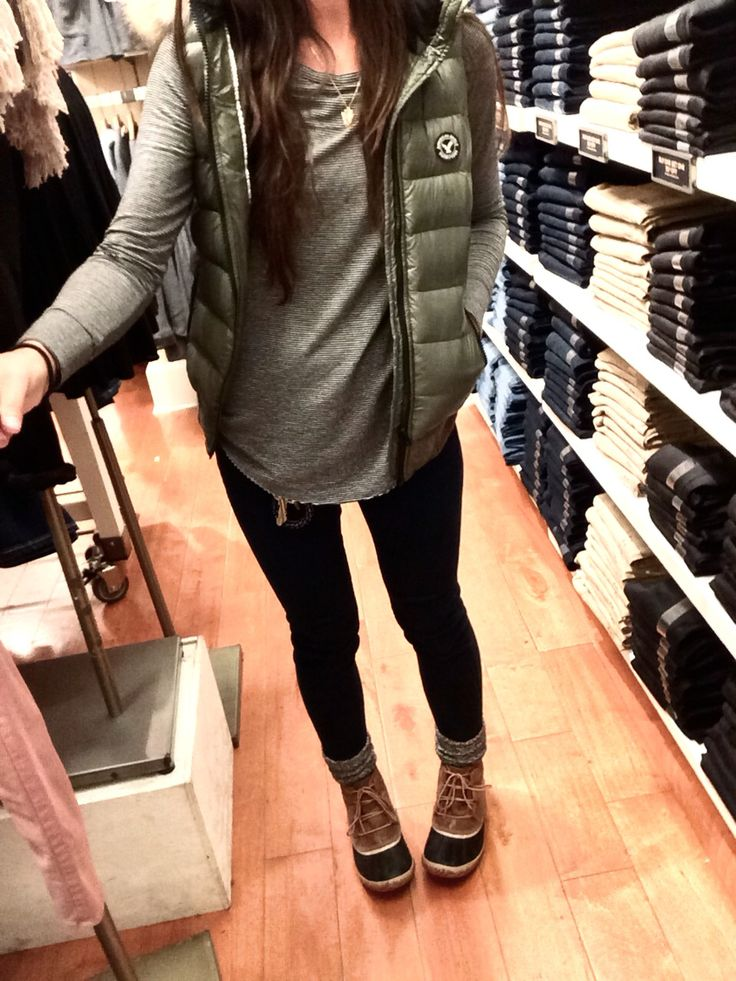 outfit ae.com sorel boots at REI