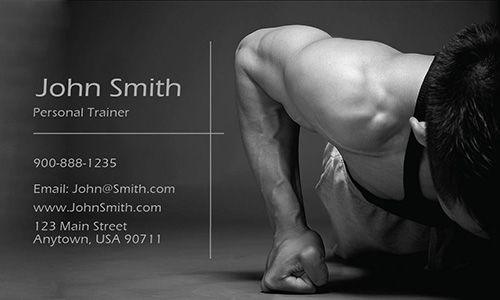 Personal trainer business card template from www.printifycards.com