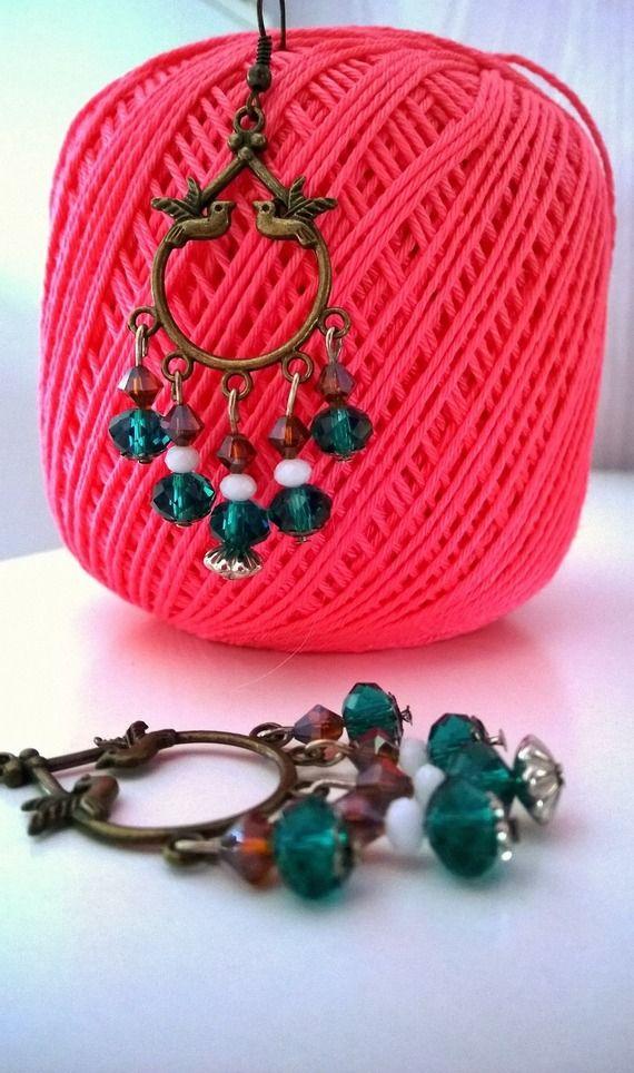 """Singin' Birds"" handmade beaded earrings -10% discount!spedizioni gratuite verso l'Italia!"
