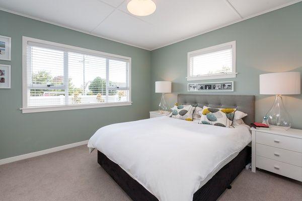 Wall colour - Resene Robin Egg Blue Ceiling and Accent colour - Resene White