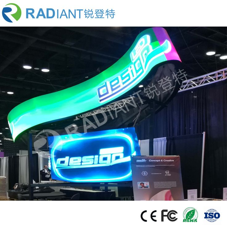 flexible LED screen from Radiant LED. Also named flexible LED display, curved LED display, curved LED screen. LED screen