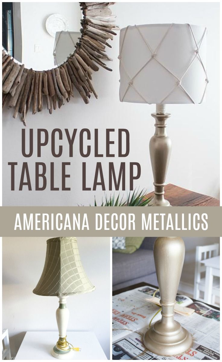 Create this project with Americana Decor® Metallics™ — Light up nautically themed décor with a lamp upcycled with Americana Decor® Metallics™.