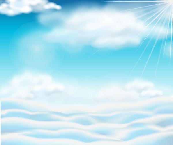 sonne und wolken mit himmelshintergrund vektor 01 eps datei sonnenlicht himmel hintergrund download name clouds sky vector background dateityp vektorgrafik svg