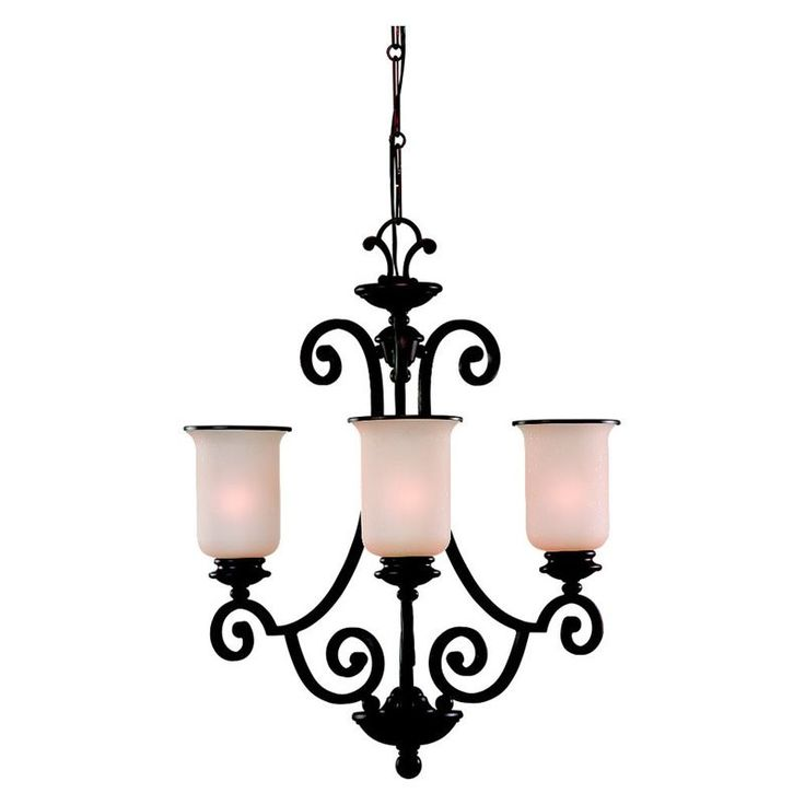 Sea gull acadia chandelier 23 25w in misted bronze