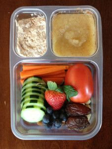 """Kids Paleo Lunch Ideas - I am not super interested in sending my children to school everyday with a """"paleo"""" bento box, but there are definitely a lot of neat ideas here. Plus, my Lemon would be absolutely thrilled to find a whole tomato in his lunch =)"""
