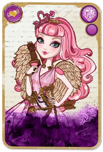 This is C.A Cupid daughter of Cupid. She loves love and doesn't really care about signing but she is disappointed that dexter likes raven because she secretly likes him