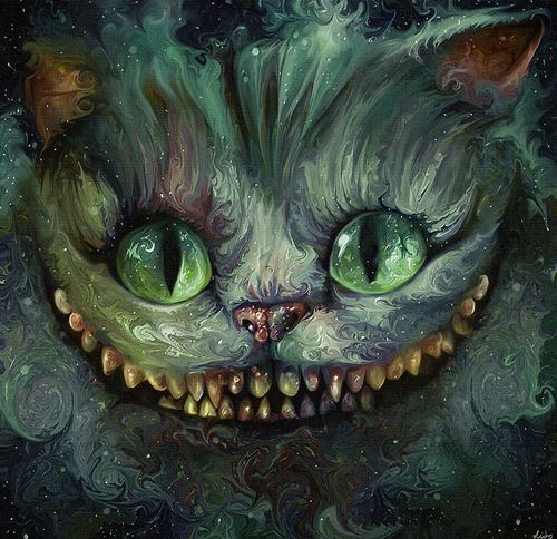 We're All Mad Here - The Cheshire Cat by *NickyBarkla