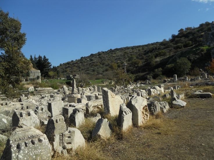 Gladiator Graveyard in Ephesus.  Here is where the contestants were buried.  It is right outside the arena.