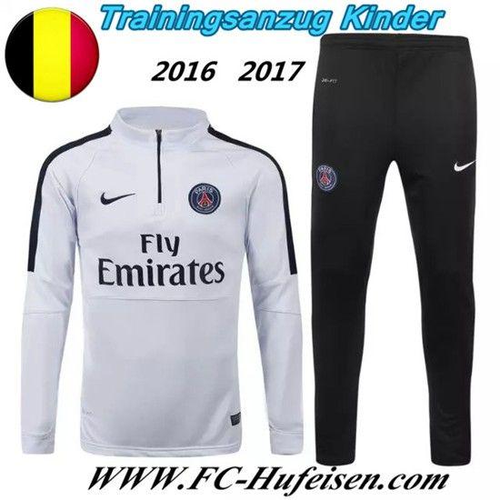Schönsten Neue Fußball Trainingsanzug PSG Kinder Kits Weiß 2016 2017 Meaney