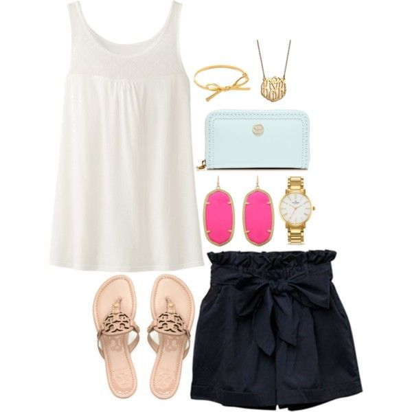 A fashion look from April 2014 featuring Uniqlo tops, Tory Burch sandals and Tory Burch wallets. Browse and shop related looks.