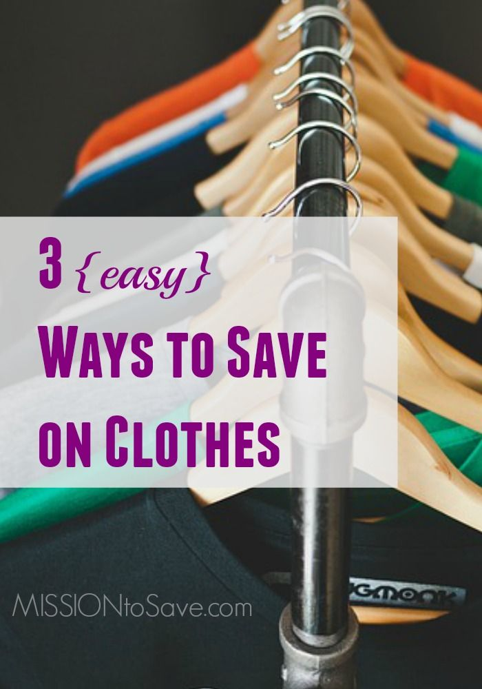3 (easy) ways to save on clothes and keep your budget in line! Are you using these savings tips to help trim your clothing purchases?