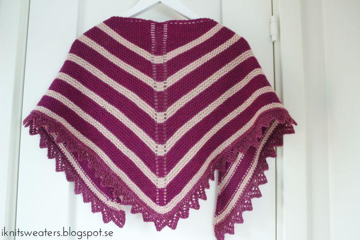 Trekantssjal med spetskant | I knit sweaters