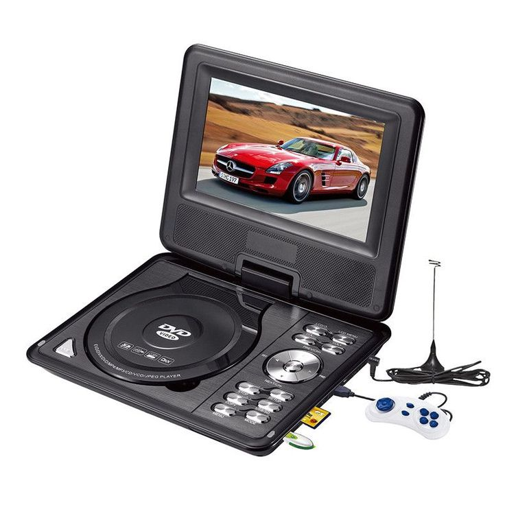 LONPOO Newest 7 inch Portable DVD Player with TFT Screen Display Support TV VCD CD MP3/4 USB GAME Mobile TV DVD player