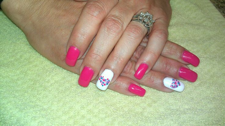 Heart nails by Tricia