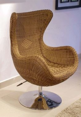Arne Jacobsen Egg Chair In Rattan