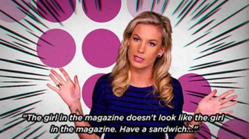 Girl Code - The girl in the magazine doesn't look like the girl in the magazine. Have a sandwich.