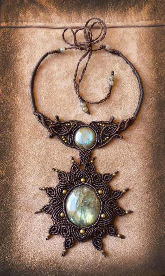 Goddess statement necklace with labradorite by AbstractikaCrafts, £65.00