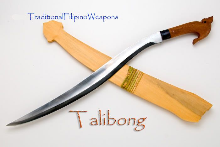 "The ""Talibon"" or ""Talibong"" swords exaggerated belly indicates its uniqueness.  This lady sword was seen in the northern Philippines during the later part of the Spanish era to the early American regime.  Used for hunting, this swords shape can both cut grass easily (while hunting animals) and slaughter the game when caught."
