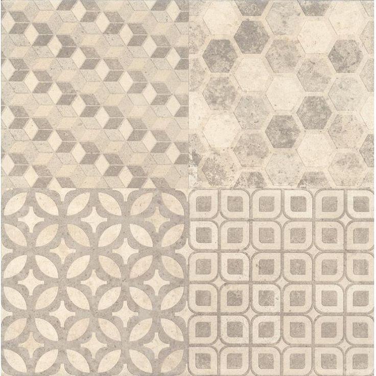 Плитка Саттон орнамент, цвет бежевый, 40,2х40,2 см, 1,62 м2