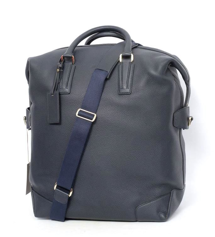 98eb5dd92b0 BRIONI Blue Pebbled Deerskin Leather Tote Carryall Duffle Laptop Bag   Get  in there! http   www.frieschskys.com bags    frieschskys  mensfashion   fashion …