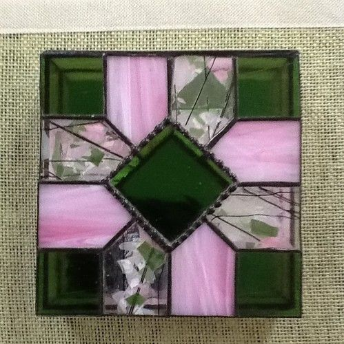 Stained Glass Panel Box with Mirrored Bottom | eBay