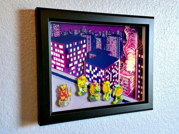 3d Ninja Turtles Arcade shadow box! I bought one and it's amazing! Will be purchasing more. :-)