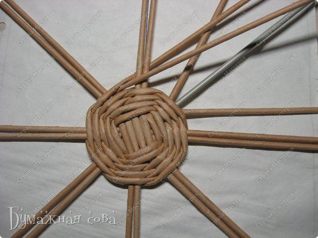 alap Мастер-класс Поделка изделие Плетение МК - шкатулка из бумаги 2 Бумага газетная Трубочки бумажные фото 24