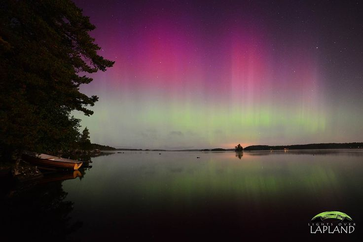 Solar Storms Ignite Awesome Auroras - NBC News.com Chad Blakley witnessed this bright pink aurora over a mirror-calm lake in Sweden on Sept. 12.