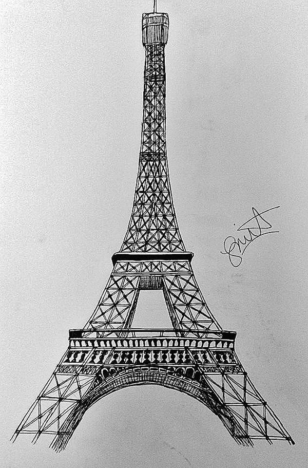 42 So Beautiful Eiffel Tower Drawing And Sketches To Try Eiffel Tower Art Paris Drawing Eiffel Tower Drawing