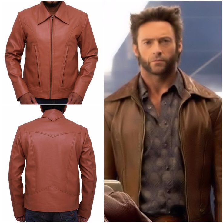 This Hugh Jackman X Men Wolverine movie men's jacket is made of 100% real leather and carries inside contented lining of Viscose.