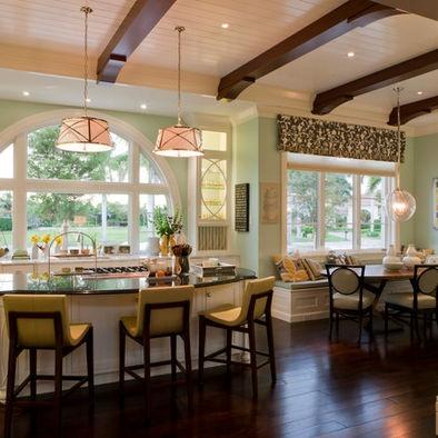 Kitchen Floor Plans Open Window And Breakfast Nooks On