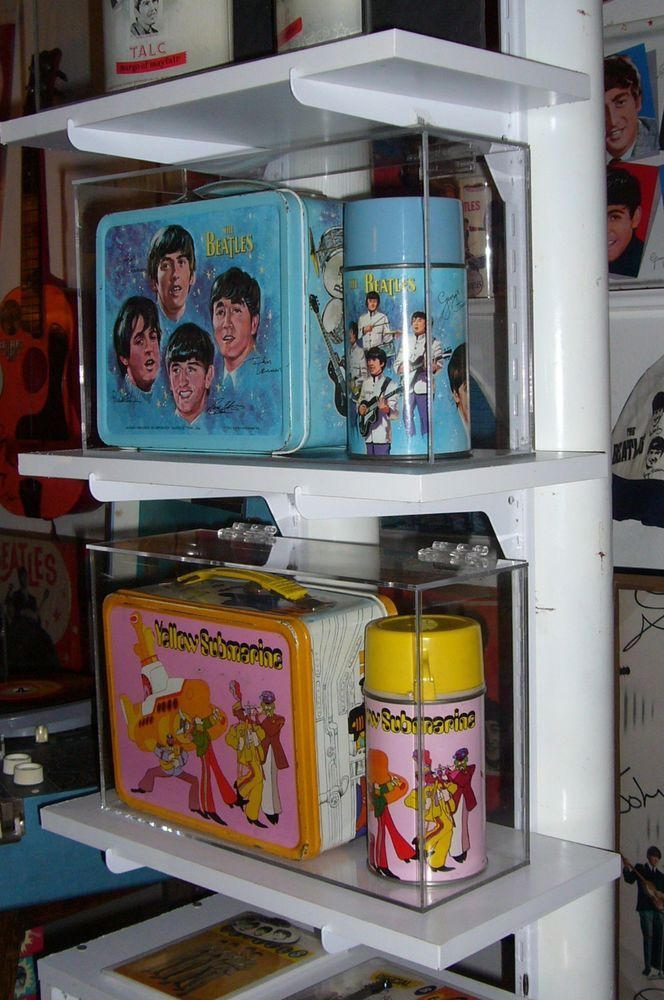 Custom Display Case for Beatles Yellow Submarine Lunch Box and Thermos