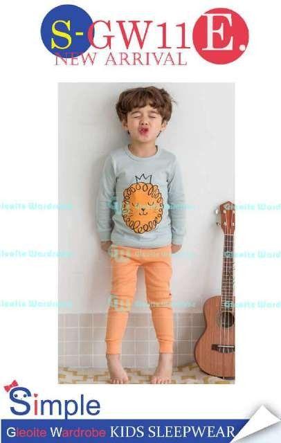 GG113 Pejamas Anak/ Baju Tidur Anak Lion Blue SGW11E Size 8th 9th 11th 12th 13th Rp 87.000 (ready)