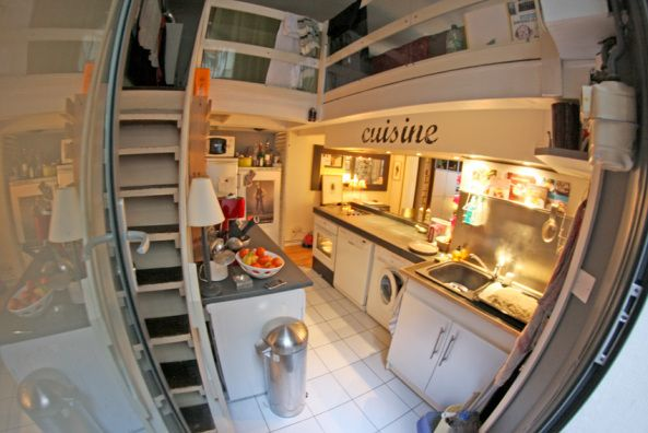 J'adore la cuisine ! #paris #france #cuisine Cocinas modernas de paris aprovechando el espacio