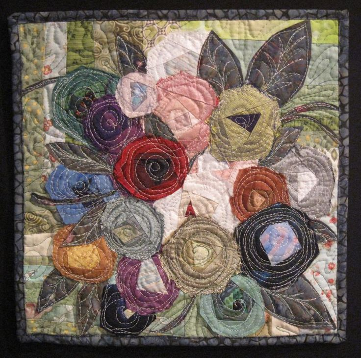 BEAUTIFUL  MINI QUILT! Website has a GOOD step by step pictorial.... This is WAY cool!!!